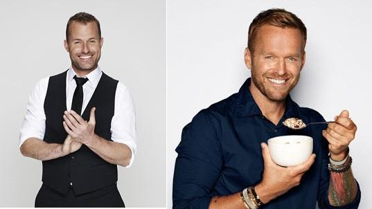 Australian TV Host Brendan Moar and US Biggest Loser's Bob Harper