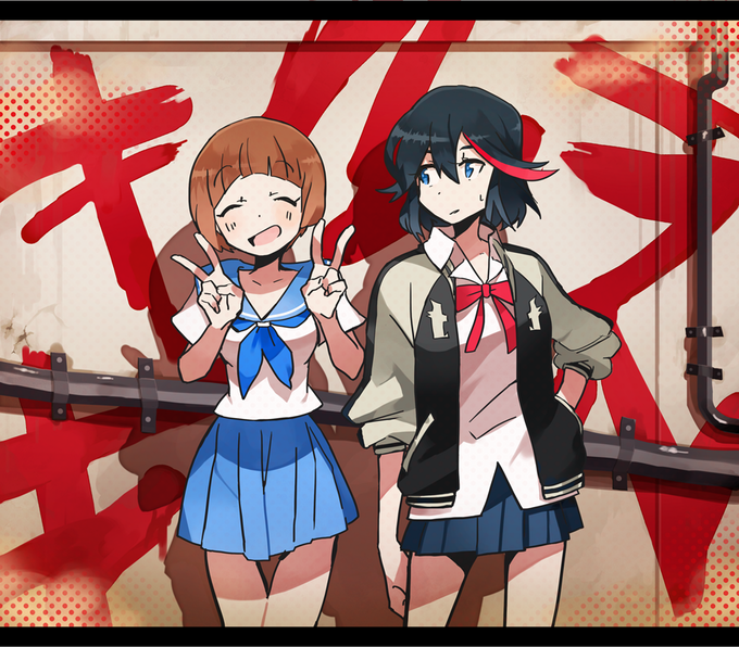 Ryuuko Matoi and Mako Mankanshoku