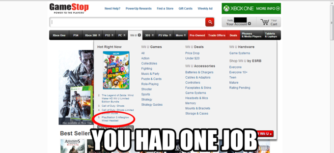 YOU HAD ONE JOB, GAMESTOP.