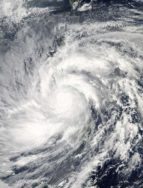 Typhoon Haiyan Over The Philippines