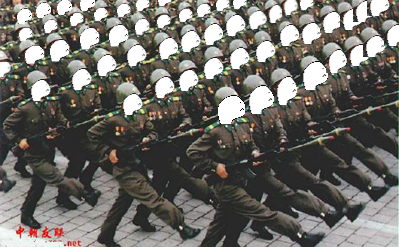 Soldiers marching for Sniko