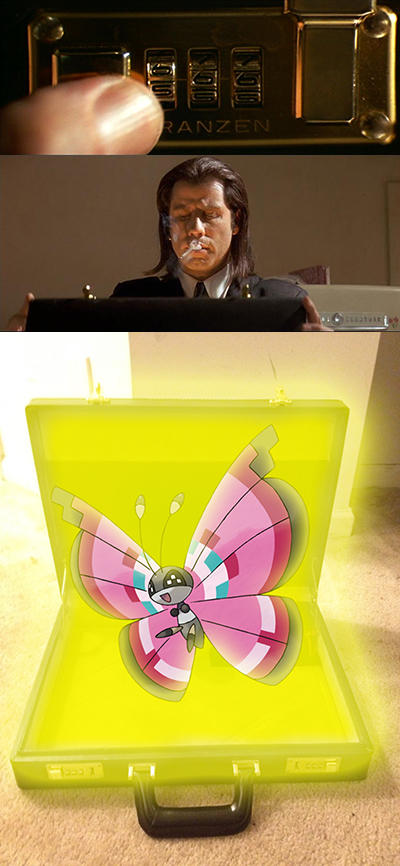 So Vivillon was in Marcellus Wallace's briefcase this whole time?