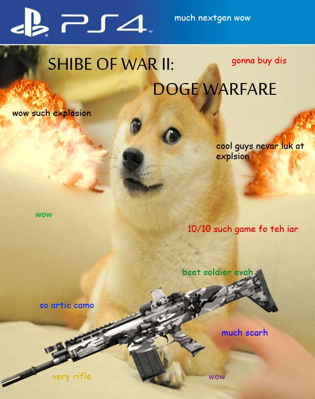 Shibe Of War II: Doge Warfare such gud game wow much better than cod wow