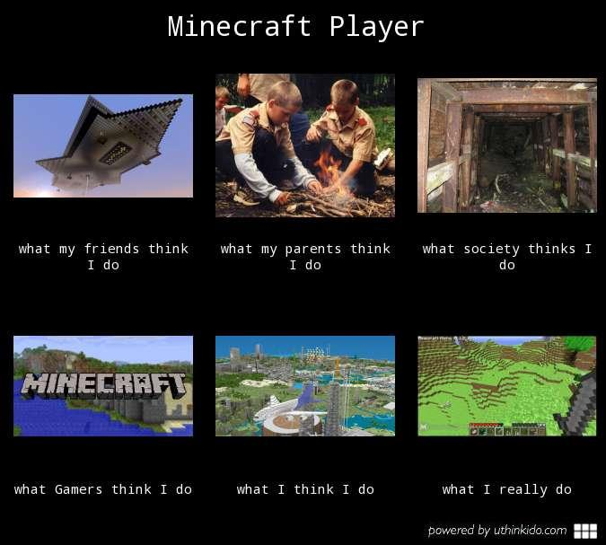 What People Think I Do - Minecraft Player