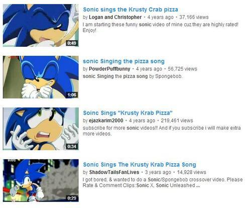 Sonic sings