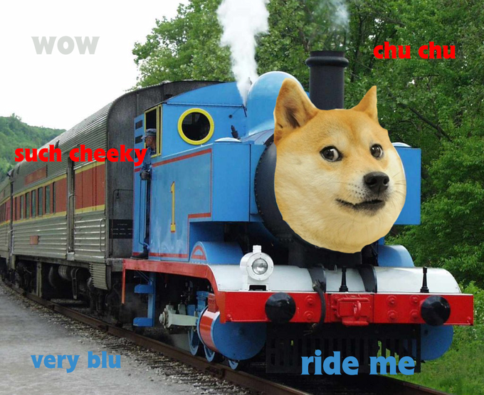 Doge the train