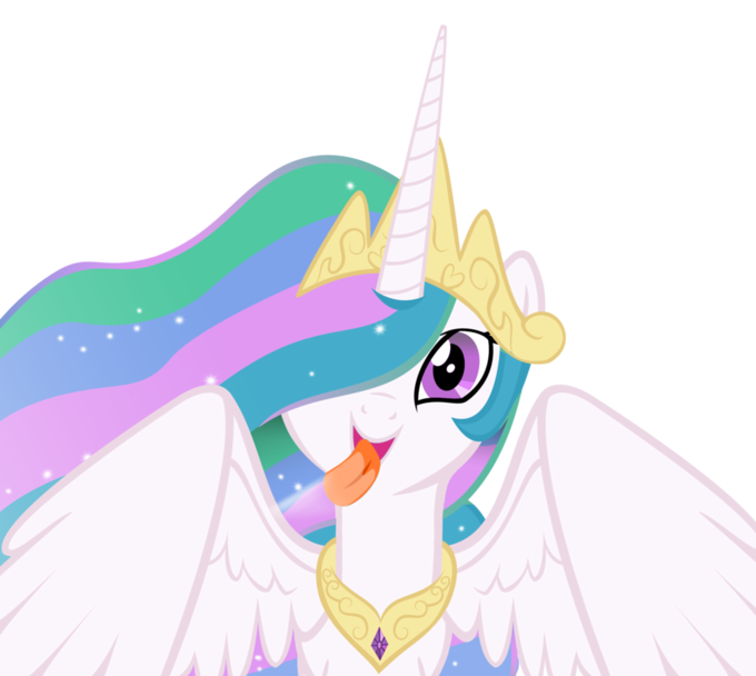 Celestia licking the screen