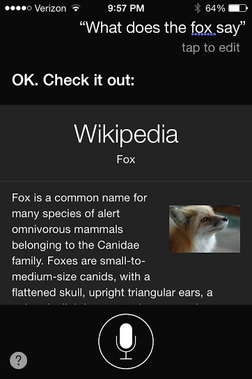 Siri, you saucy.