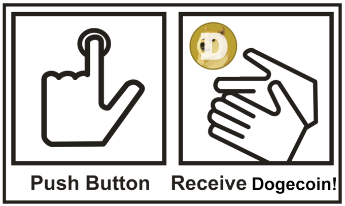 Push Button. Receive Dogecoin.