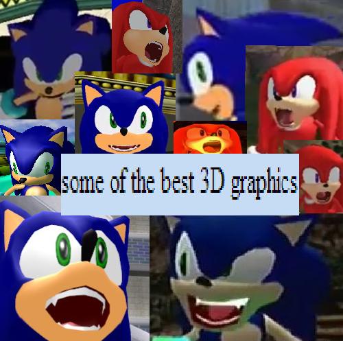 Sonic Adventure had some crazy faces