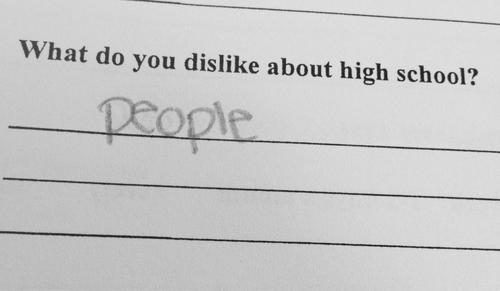 What Do You Dislike About Highschool?
