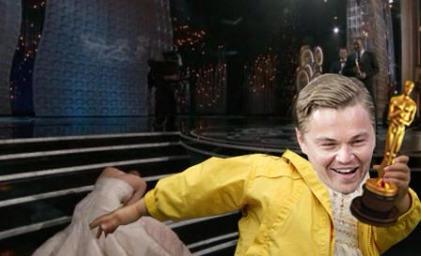Leonardo DiCaprio steals Oscar