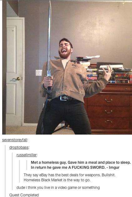 Sword From Homeless Man