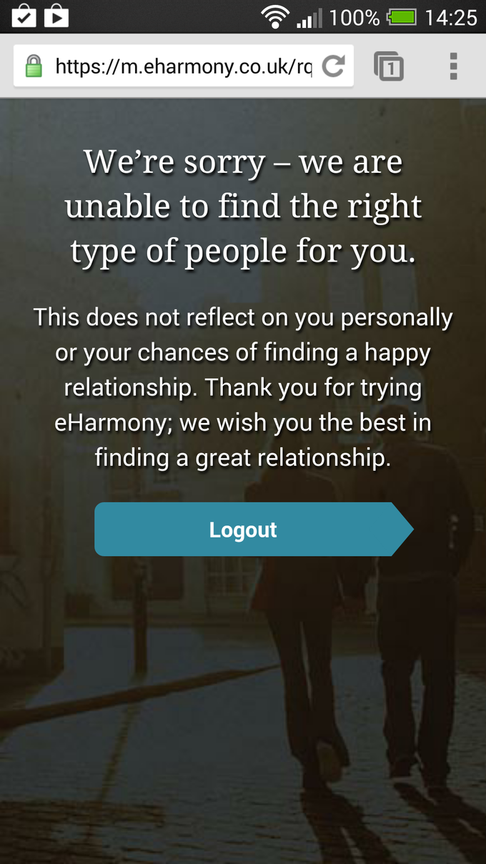 I Just Got Rejected by A Dating Website (Literally)
