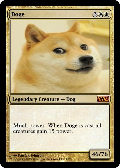 Doge Magic Card
