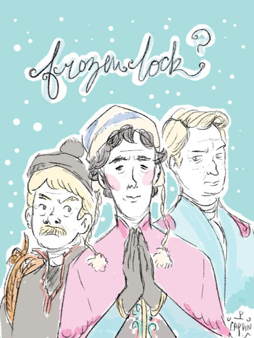 Frozen Sherlock illustration