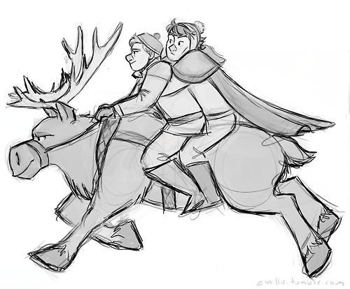 Sherlock and Watson on Sven