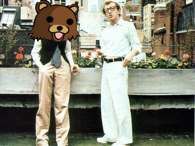 Pedobear and Woody Allen