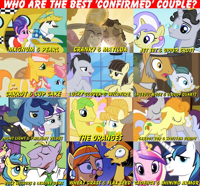 "Who are the best ""confirmed"" couple?"