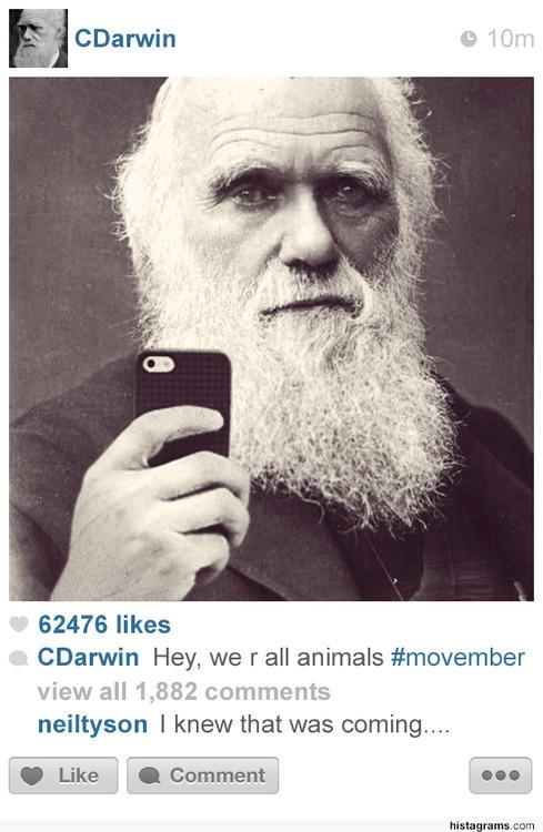 Charles Darwin on Instagram