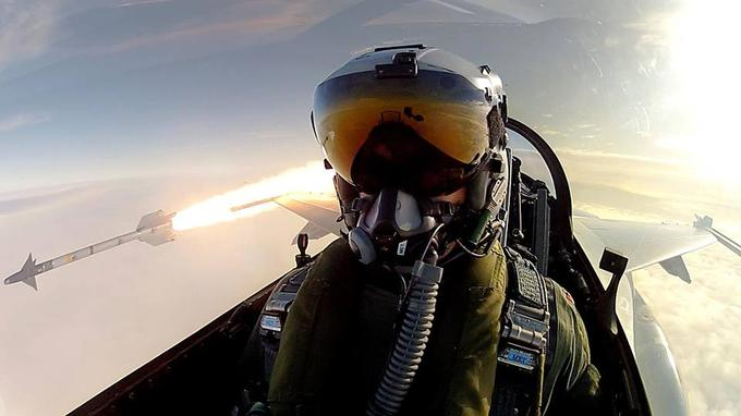 Royal Danish Air Force Pilot's Selfie in Mid-Missile Fire