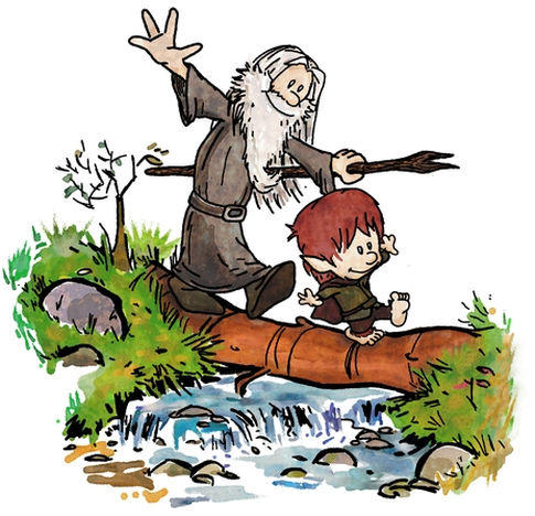 Calvin and Hobbes LOTR