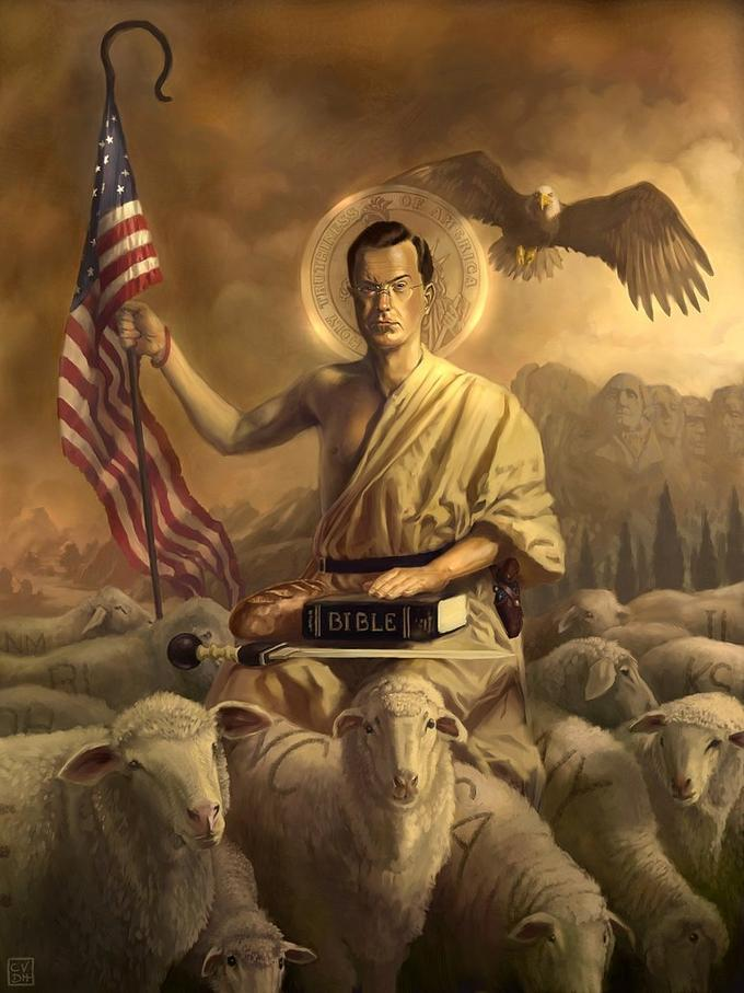 Saint-Colbert and his flock by