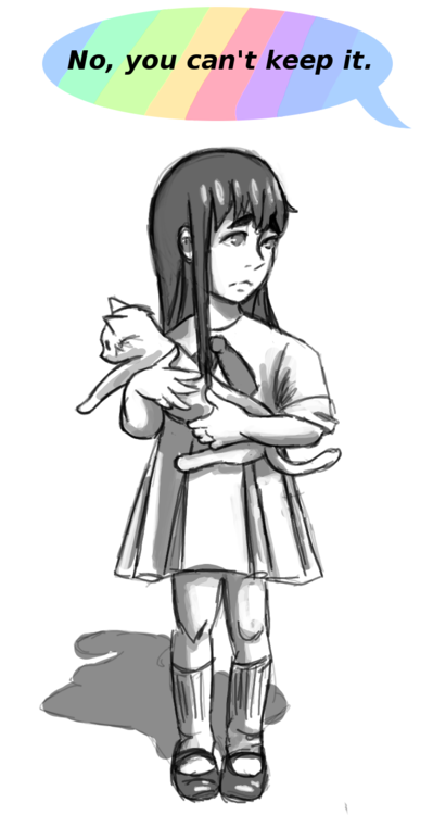 """I don't allow rats in the house, Satsuki."""