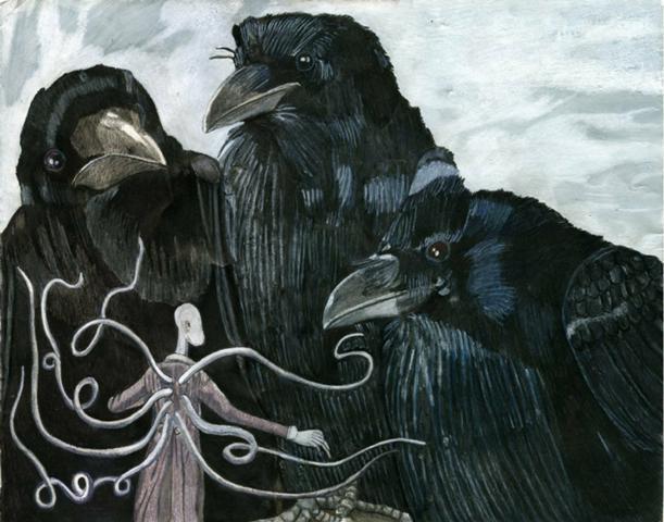 Slenderman Versus Goliath Ravens
