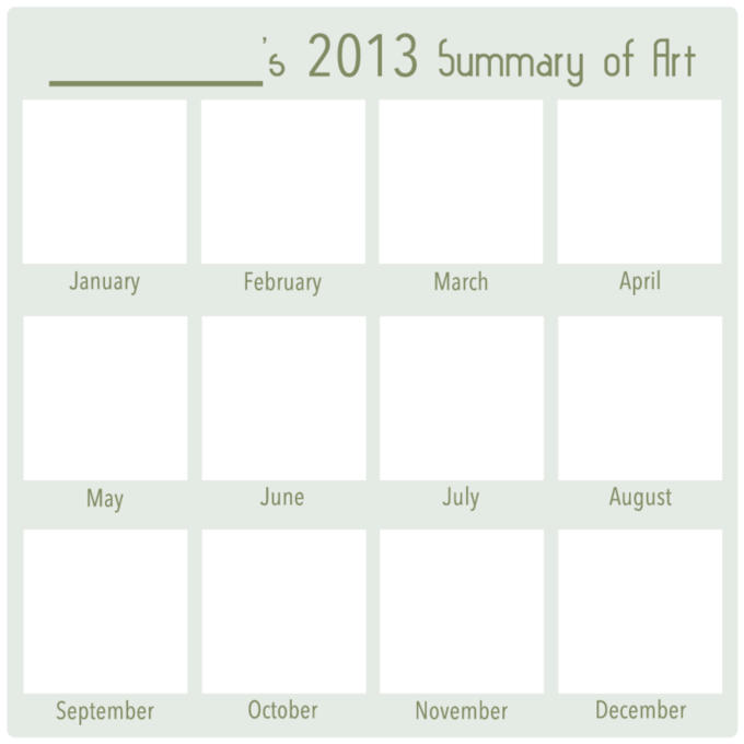 2013 Art Summary BLANK