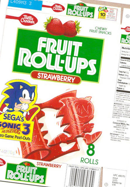 Sonic The Hedgehog 3 Fruit Roll-Ups