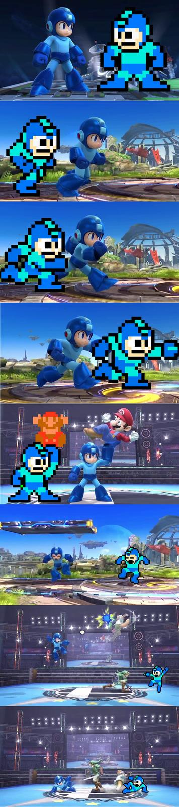 Megaman's basic moves are intact