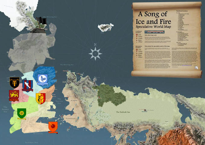 A Google Map of Westeros