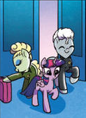 Pearl and TV's Frank in MLP Comic