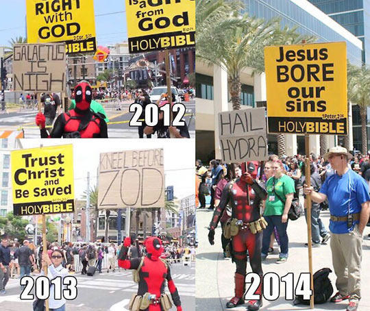 Deadpool Marching With His People