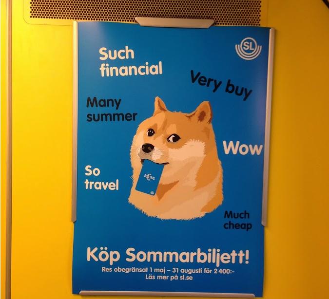 Doge in commercial use in Stockholm, Sweden