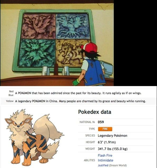 Arcanine was originally a Legendary Pokémon.
