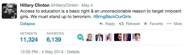 #BringBackOurGirls Hillary Clinton