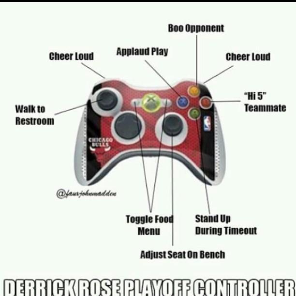 Derrick Rose Xbox Controller