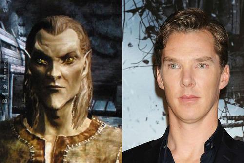 Benedict Cumberbatch = Elder Scrolls Elf?