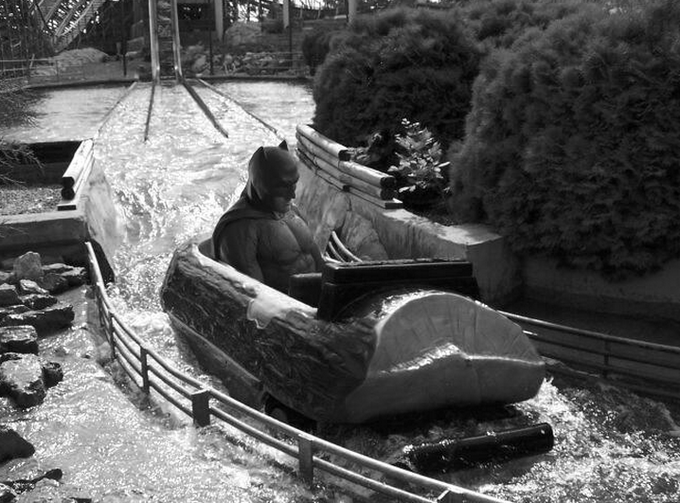 Batman Goes on a Water Ride