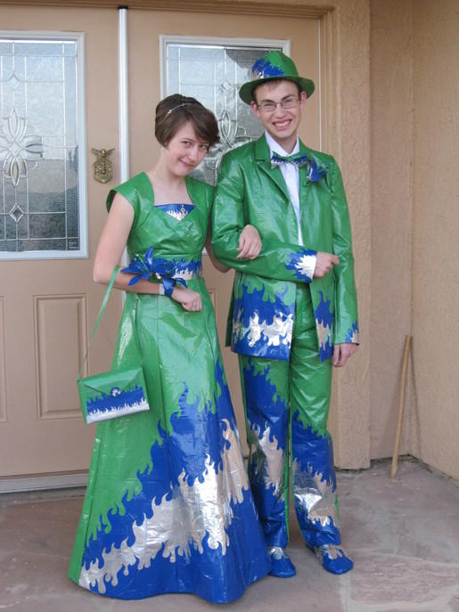 green duct tape prom