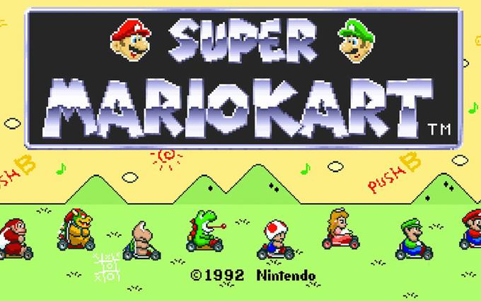 Super Mario Kart title