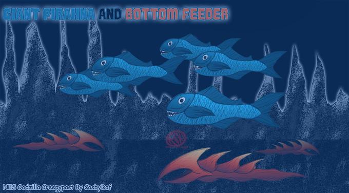 Giant Piranha and Bottom Feeder