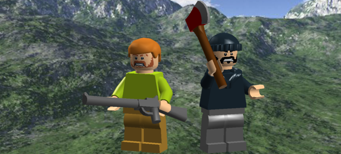 Two Best Friends Play Minifigs