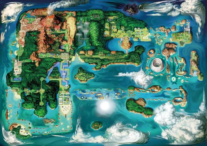 The new Hoenn! What's that in the north...?