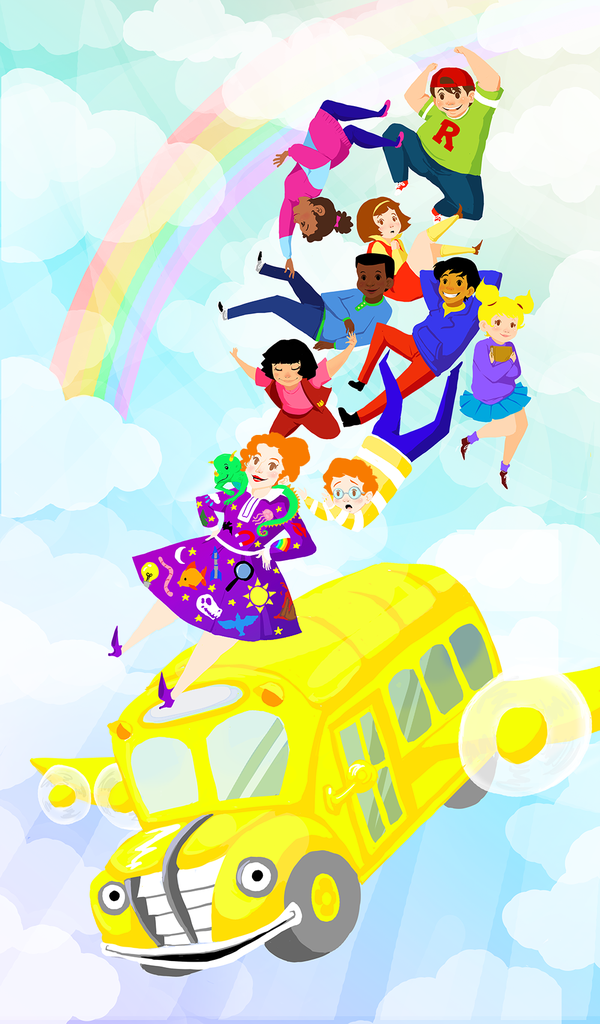 Magic School Bus Cutout