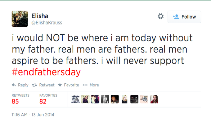opposed to endfathersday