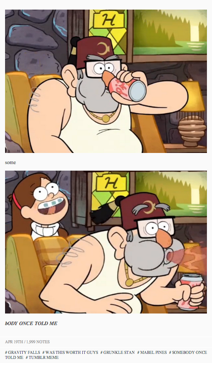 Gravity Falls Somebody