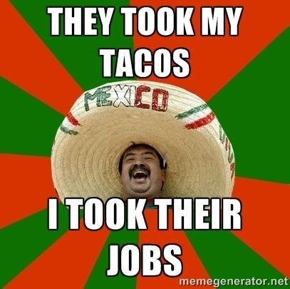 They took my tacos...